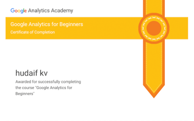 kv hudaif digital marketing strategist google analytics certification