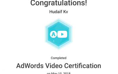 kv hudaif digital marketing strategist adwords video certification