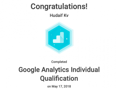 kv hudaif google analytics individual qualification